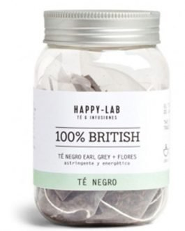 "Té negro ""100% British"" en pirámides de Happy-lab"